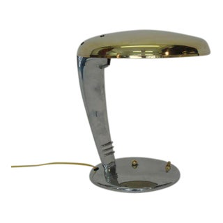 Gorgeous Norman Bel Geddes Cobra Art Deco Desk Lamp