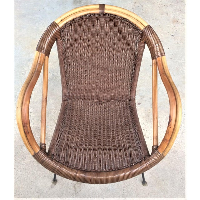 Mid-Century Rattan Chair - Image 2 of 6