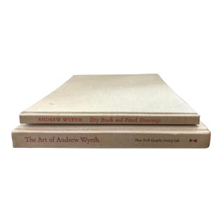 Vintage Andrew Wyeth Art Books - a Pair For Sale