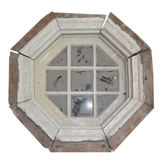 Hexagon Salvage Wooden Window For Sale
