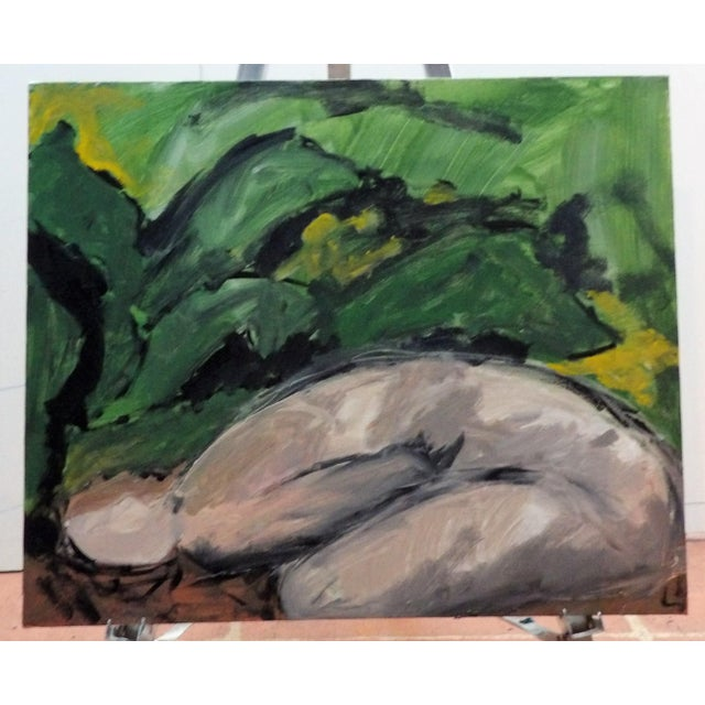 Abstract Large Figurative Painting on Canvas For Sale - Image 3 of 4