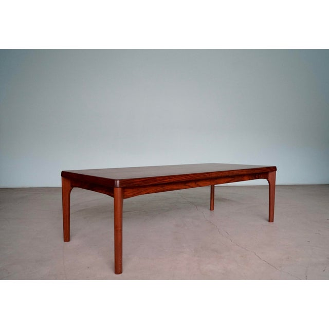 1960s Mid-Century Danish Modern Rosewood Coffee Table For Sale - Image 5 of 12