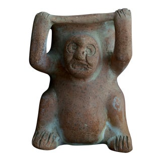 Vintage Pre-Columbian Style Figurative Planter For Sale