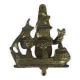 Image of English Brass Ship Door Knocker For Sale