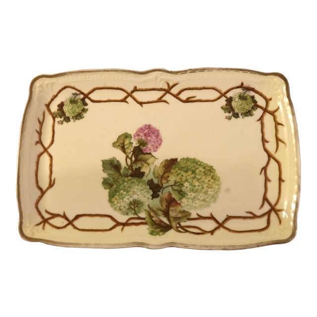 Mid 20th Century Vintage German Hand Painted China Platter For Sale