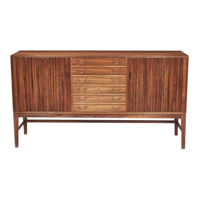 Danish Ole Wanscher Tambour Cabinet, 1960s For Sale