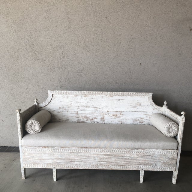 Vintage Gustavian Newly Upholstered Daybed For Sale - Image 13 of 13