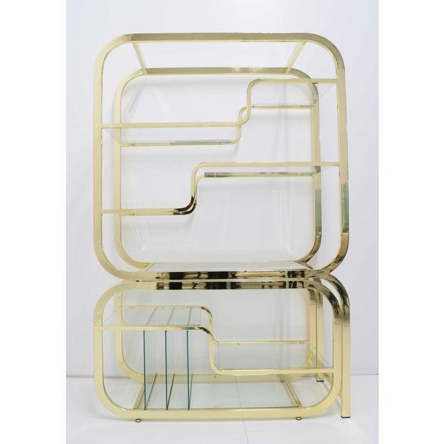 Gold Milo Baughman for DIA Brass Finish Étagère For Sale - Image 8 of 8