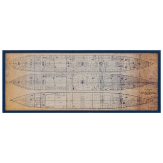 Newly Framed s.s. Olympic Blueprint For Sale
