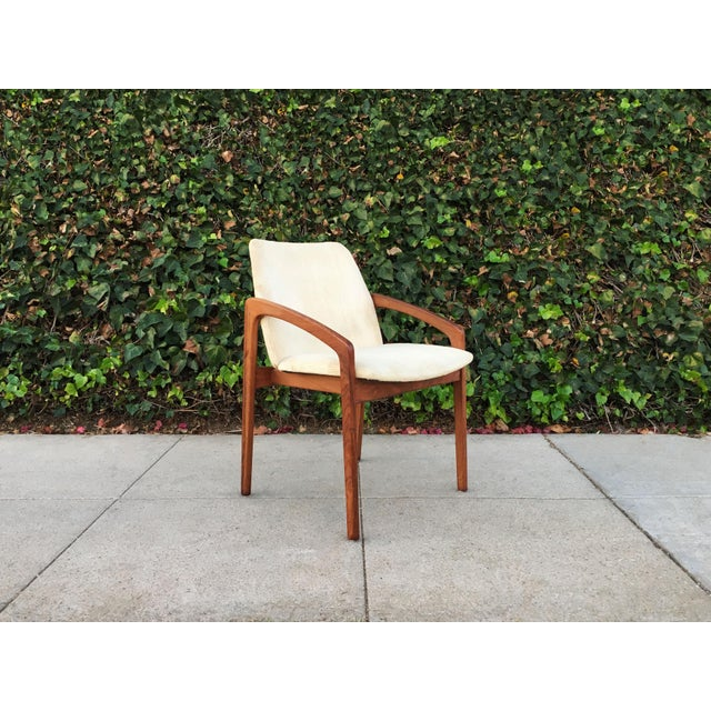 Set of 6 mid century modern dining chairs by designer Kai Kristensen for Korup Stolefabrik, circa 1960's. The frame of the...
