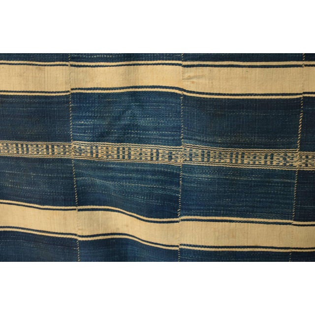 Primitive Museum Quality West African Indigo Textile For Sale - Image 3 of 7