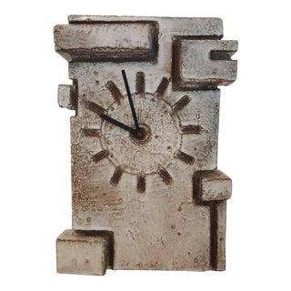 Marius Bessone, Vallauris large Cubistic Earthware Clock
