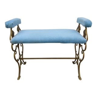 Cast Iron Bench With Griffin Head Design For Sale