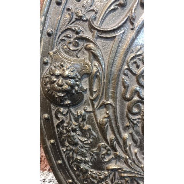 Bronze Vintage Mythological Bronze Wall Plaque Shields - A Pair For Sale - Image 7 of 9
