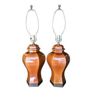 Vintage Ginger Jar Lamps-Pair For Sale