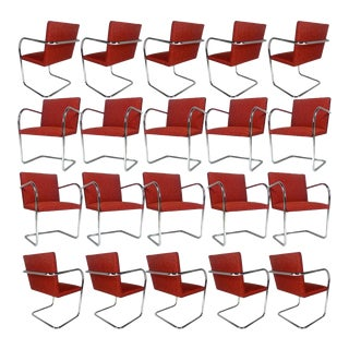 Ludwig Mies Van Der Rohe for Knoll Tubular Brno Chairs 20 Available For Sale