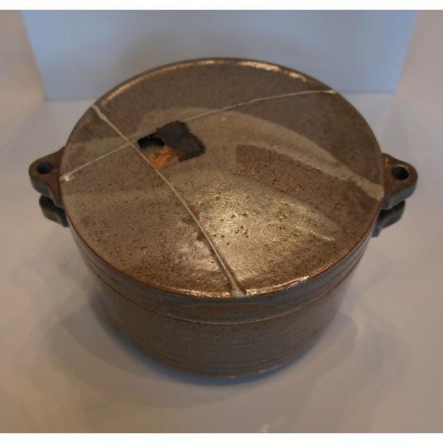 Mid Century Signed Studio Pottery Lidded Casserole Dish - Image 3 of 7