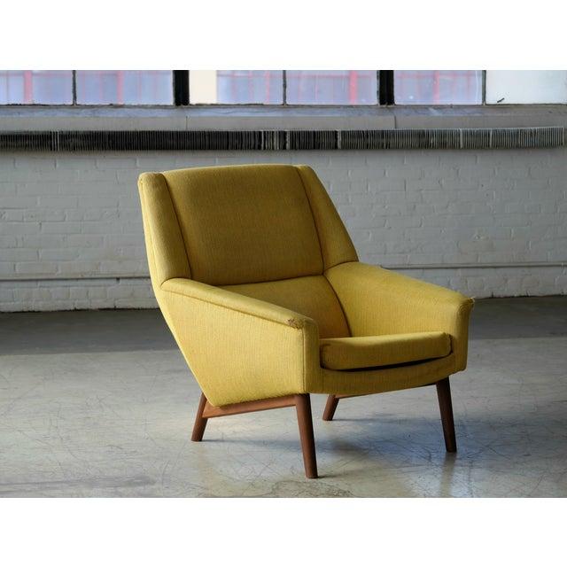 Folke Ohlsson 1950s Mid-Century Danish Teak Lounge Chair for Fritz Hansen For Sale - Image 10 of 10