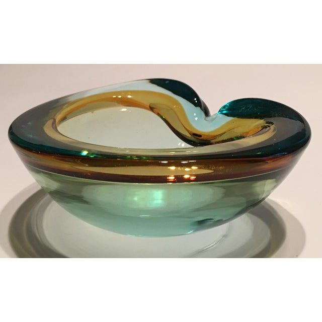 Italian Seguso Cased Glass Ashtray - Image 5 of 6