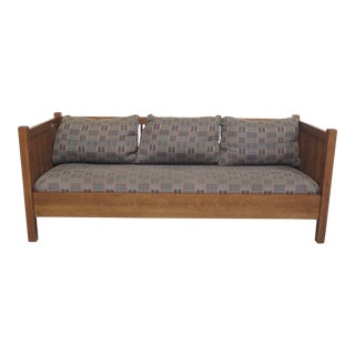 Stickley Mission Oak Spindled Sofa Settee For Sale