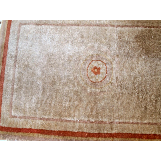 1970s, Handmade Vintage Art Deco Chinese Rug 2.1' X 3.2' For Sale In New York - Image 6 of 8