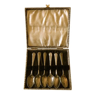 Vintage Sheffield England Wear-Wite Silver Boxed Spoons - Set of 6 For Sale