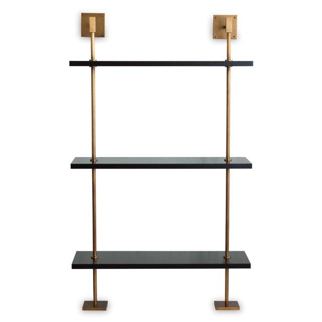 2010s Marais 3-Tier Black & Brass Shelf For Sale - Image 5 of 6