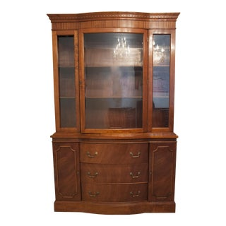 Philippine Mahogany China Cabinet For Sale
