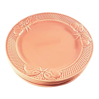 Bordallo Pinheiro Rabbit Pink Salad Plates - Set of 4