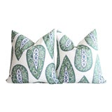 Image of Lacefield Bindi Kelly/Blue Pillows - a Pair