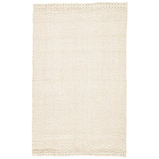 Jaipur Living Tracie Natural Solid White Area Rug - 8' X 10' For Sale