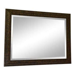 1980s Vintage Rectangular Transitional Wall Mirror For Sale