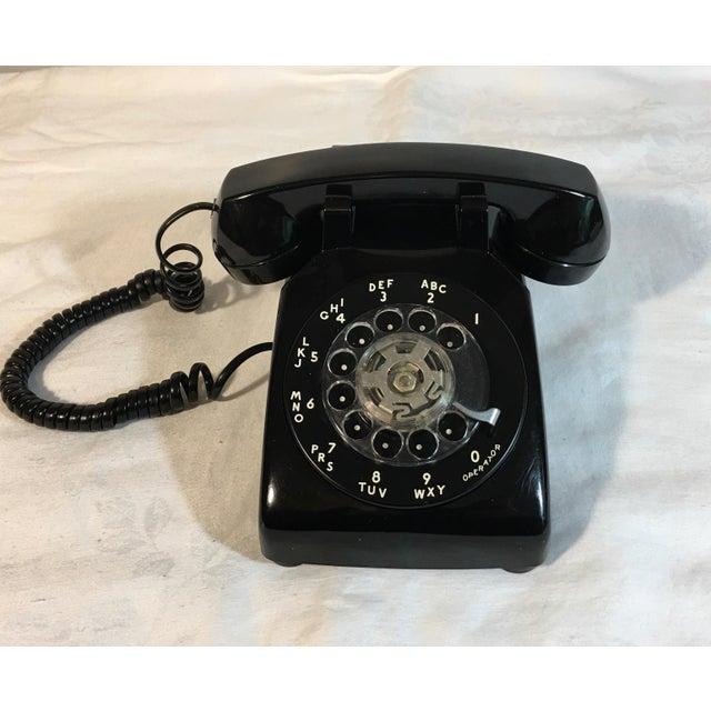 Vintage Black Rotary Telephone - Image 5 of 8
