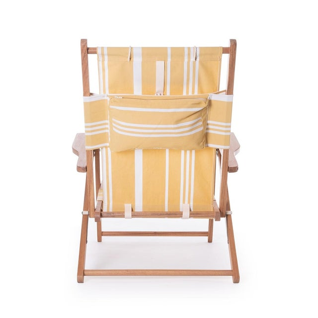 Mid-Century Modern Tommy Outdoor Chair - Vintage Yellow Stripe For Sale - Image 3 of 5