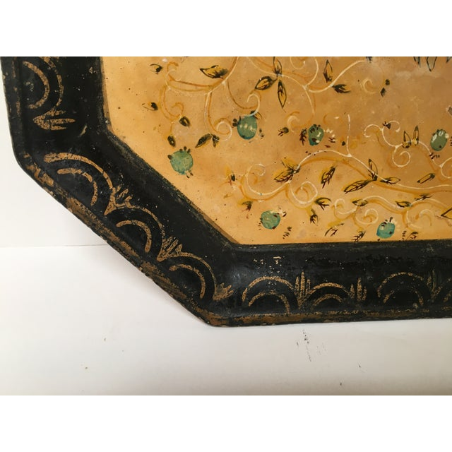 Vintage Paper Mache Rooster Motif Tray - Image 5 of 7