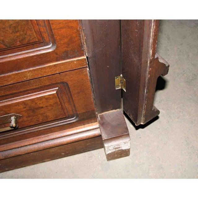 Stately Walnut Burled Panel Dresser For Sale - Image 6 of 10