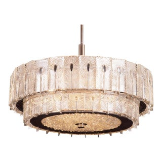 Mid-Century Austrian Chandelier by Rupert Nikoll, 1950s For Sale