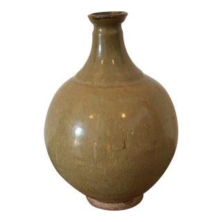 Vintage Mustard Studio Art Pottery Vase