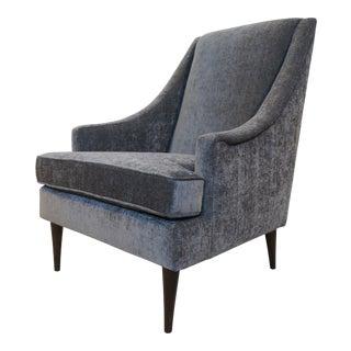 Milo Baughman High Back Arm Chair For Sale