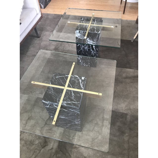 Artedi Nero Marquina Marble Side Tables - A Pair For Sale In New York - Image 6 of 10