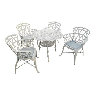 Vintage Cast Aluminum Patio Set-Set of 5 For Sale