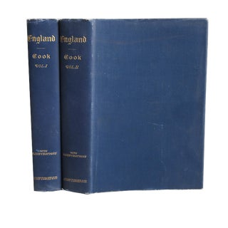 "1900 ""England: Picturesque/Descriptive 2 Vols."" Collectible Book For Sale"