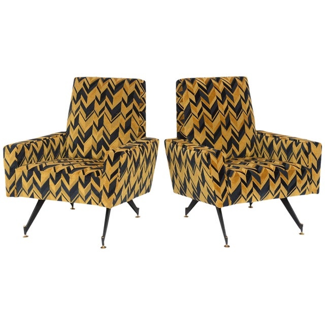 Original Pair of Lounge Chairs by Osvaldo Borsani - Image 1 of 6