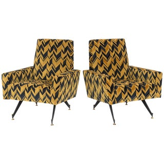 Pair of Original Lounge Chairs by Osvaldo Borsani For Sale