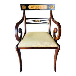 Regency Style Arm Chair For Sale