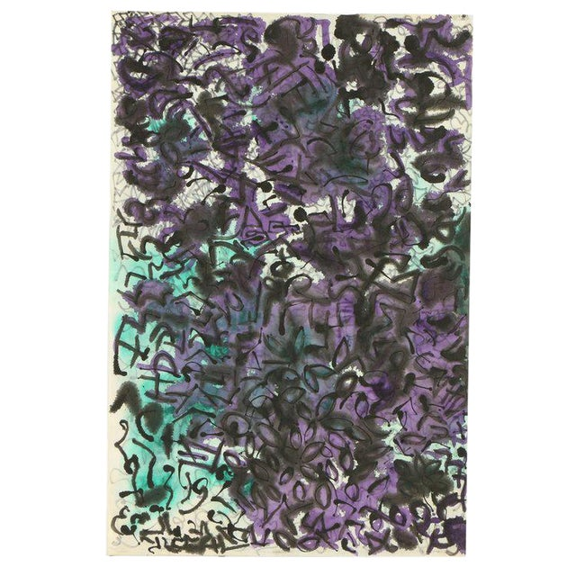 Ink and Watercolor on Paper by Louis Papp (1930-2012) For Sale