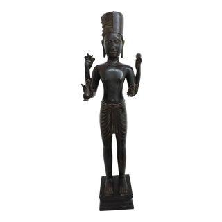 Burmese Colonial Era Bronze Shiva Statue For Sale