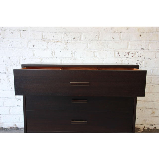 Black Harvey Probber Mid-Century Modern Dark Mahogany Gentleman's Chest For Sale - Image 8 of 10