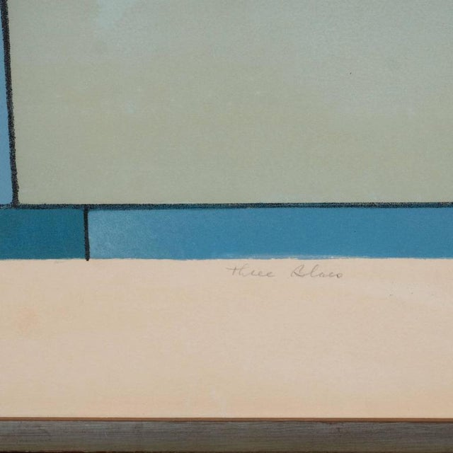 American Ludwig Sander Geometric Color Field Lithograph For Sale - Image 5 of 10