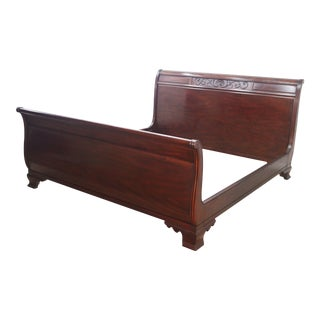 Henkel Harris King Size Mahogany Sleigh Bedframe For Sale